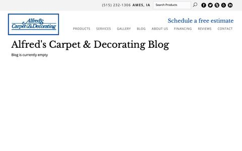 Screenshot of Blog alfredscarpet.com - Alfred's Carpet & Decorating Blog - captured Oct. 3, 2018