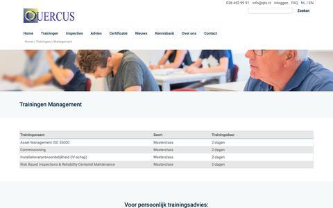 Screenshot of Team Page qts.nl - Trainingen Management - Quercus - captured Nov. 11, 2018