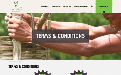 Screenshot of Terms Page ewb-uk.org - Terms & Conditions | Engineers Without Borders - captured Nov. 8, 2016