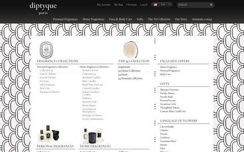 Screenshot of Site Map Page diptyqueparis.com - Site Map | diptyque Paris - captured June 5, 2017