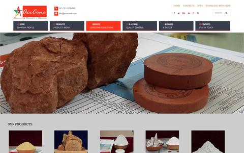 Screenshot of Home Page acecone.com - ball clay manufacturers | bentonite mineral | china clay mines and minerals - captured Feb. 5, 2016