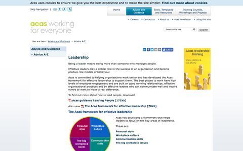 Screenshot of Team Page acas.org.uk - Leadership | Acas - captured July 12, 2019