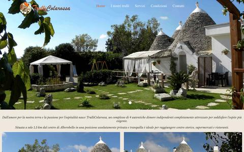 Screenshot of Home Page trullicolarossa.it - TrulliColarossa Bed & Breakfast Alberobello - captured March 8, 2018