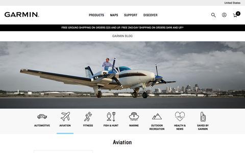Screenshot of Blog garmin.com - Aviation Archives - Garmin Blog - captured Nov. 5, 2019