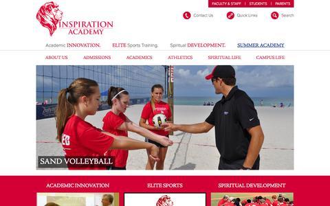 Screenshot of Home Page inspirationacademy.com - Inspiration Academy - captured Sept. 25, 2014