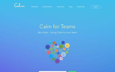 Calm - Corporate and Team Discount