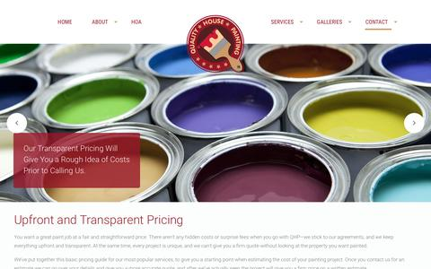 Screenshot of Pricing Page qhponline.com - Pricing - Quality House Painting | Newport Beach CA - captured Jan. 29, 2016
