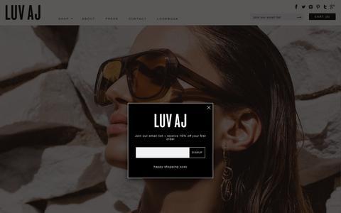 Screenshot of Home Page luvaj.com - Luv Aj   Luv Aj - captured May 24, 2017