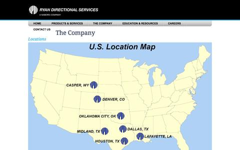Screenshot of Locations Page navigateenergy.com - Ryan Directional Services - captured Oct. 7, 2014