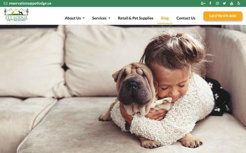 Screenshot of Blog petlodge.us - Blog | Pet Lodge Pet Resort - captured Sept. 27, 2018