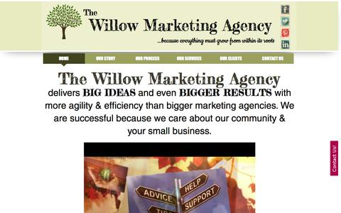 Screenshot of Home Page thewillowmarketingagency.com - The Willow Marketing Agency & Marketing Consulting: Meadville, PA - captured Oct. 9, 2014