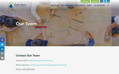 Screenshot of Team Page earlyedgecalifornia.org - Early Edge California - Our Team - captured Nov. 11, 2018