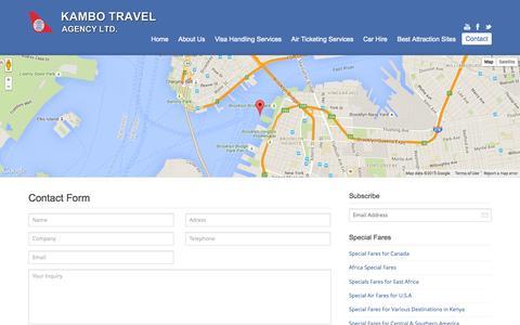 Screenshot of Contact Page kambotravels.com - Contact   kambotravels - captured Aug. 6, 2015