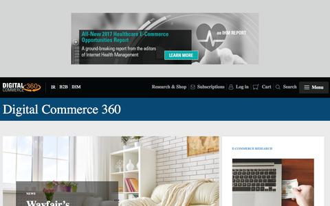Screenshot of Home Page Menu Page digitalcommerce360.com - Digital Commerce 360 | Internet Retailer News & Analysis | Top 500 | B2B E-Commerce | Retail Research - captured Feb. 23, 2018