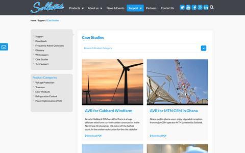 Screenshot of Case Studies Page sollatek.com - Case Studies - Sollatek - captured Nov. 4, 2014