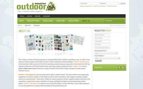 Screenshot of About Page odrmag.com - Company | Outdoor USA Magazine - captured Oct. 31, 2014