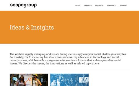Screenshot of Blog scopegroup.asia - Scope Group |   Insights - captured Nov. 19, 2016