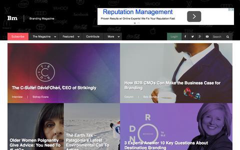 Screenshot of Home Page brandingmagazine.com - Branding Magazine   Narrating the Discussion - captured Oct. 1, 2015