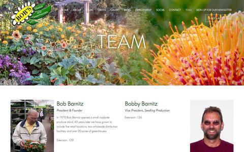 Screenshot of Team Page bobsmarket.com - Team - Bob's Market And Greenhouses Inc. - captured Nov. 3, 2014