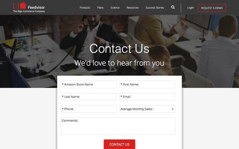 Screenshot of Contact Page feedvisor.com - Contact Us - Feedvisor - captured March 26, 2017