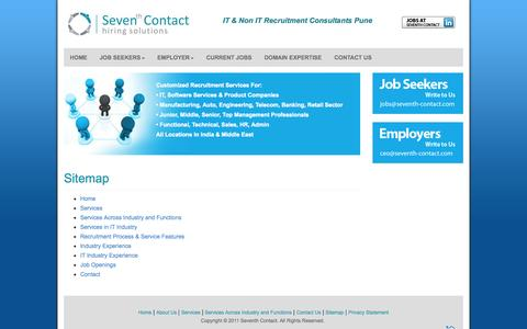 Screenshot of Site Map Page seventhcontact.com - Seventh Contact - captured Oct. 26, 2014
