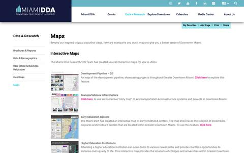Screenshot of Maps & Directions Page miamidda.com - Miami DDA - Miami Demographics – Miami Data | Miami DDA - captured Oct. 18, 2018