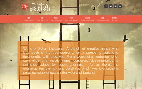 Screenshot of Home Page digitalevolutions.ae - Web Design Company in Dubai - Web Design Dubai | Digital Evolutions - captured June 4, 2017