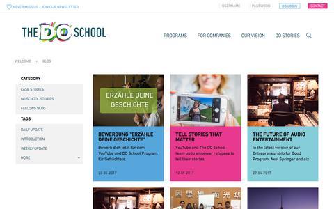 Screenshot of Blog thedoschool.org - The DO SchoolBlog - The DO School - captured June 11, 2017