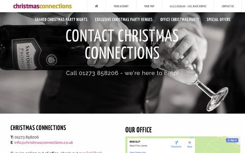 Screenshot of Contact Page christmasconnections.co.uk - Christmas Connections | Contact Us | Christmas Connections | Event Organisers - captured May 17, 2017