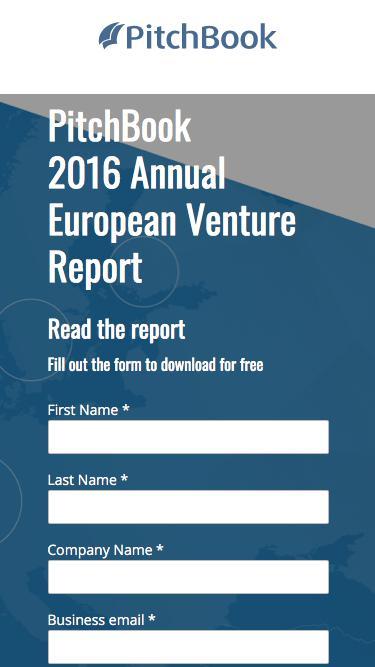 PitchBook 2016 Annual European Venture Report