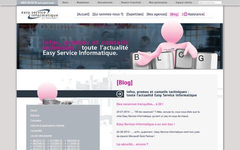Screenshot of Blog easyserviceinformatique.com - Easy Service Informatique•Le blog Easy Service Informatique - captured Sept. 27, 2014