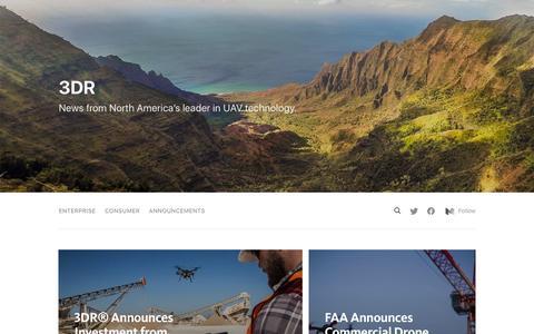 Screenshot of Press Page 3dr.com - 3DR News - captured June 25, 2016