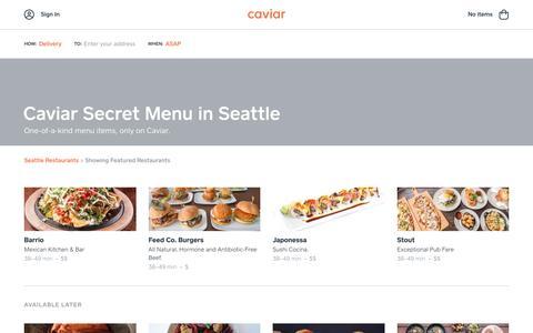 Caviar Secret Menu in Seattle | Caviar