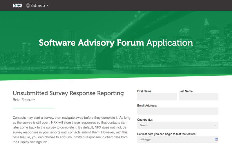 Software Advisory Application: Unsubmitted Survey Response Reporting