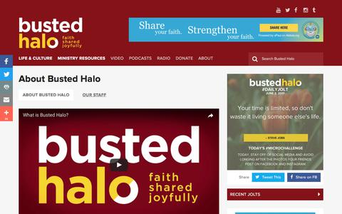 Screenshot of About Page bustedhalo.com - About Busted Halo | Busted Halo - captured June 3, 2017