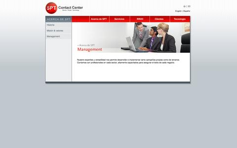 Screenshot of Team Page sptcontactcenter.com - SPT Contact Center - captured Sept. 30, 2014