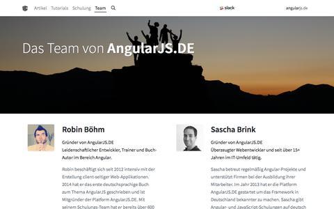 Screenshot of Team Page angularjs.de - AngularJS.DE → Das Team von AngularJS.DE - captured Sept. 23, 2018