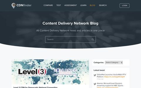 Screenshot of Blog cdnfinder.com - CDN Finder | Content Delivery Network - captured Aug. 11, 2016