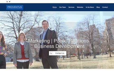 Screenshot of Home Page proventusconsulting.com - Law Firm Marketing Kansas City | Proventus Consulting - captured Dec. 13, 2015