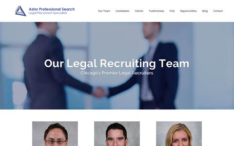 Screenshot of Team Page astorsearch.com - Chicago's Top Legal Recruiters - Astor Professional Search - captured Feb. 6, 2016