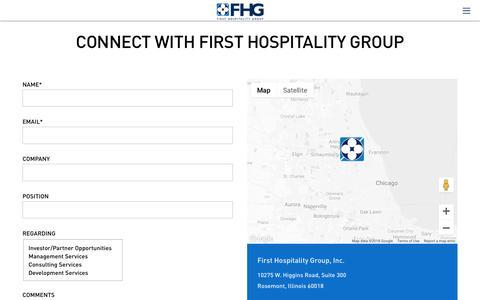 Screenshot of Contact Page fhginc.com - Contact FHG - FHG Inc - captured Oct. 10, 2018