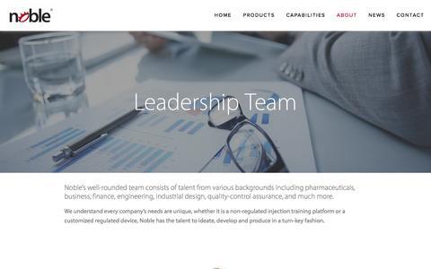 Screenshot of Team Page gonoble.com - Team — Noble - captured April 30, 2016