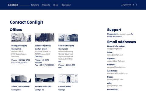 Contact — Configit
