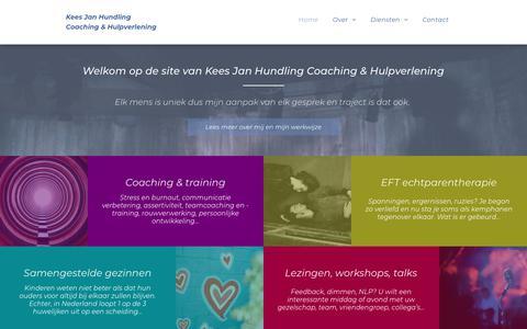 Screenshot of Home Page keesjanhundling.nl - Kees Jan Hundling Coaching & Hulpverlening - captured Oct. 18, 2018