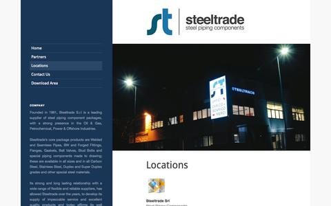 Screenshot of Locations Page steeltrade.it - Steeltrade – Steel Piping Components | Locations - Steeltrade - Steel Piping Components - captured Oct. 3, 2014