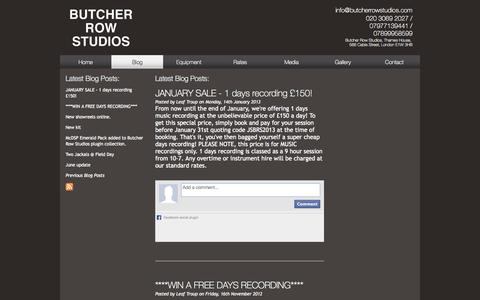Screenshot of Blog butcherrowstudios.com - June update - Butcher Row Blog - captured Sept. 30, 2014