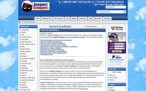 Screenshot of Terms Page jeeperz-creeperz.com - Jeeperz Creeperz Terms & Conditions - captured Oct. 27, 2014