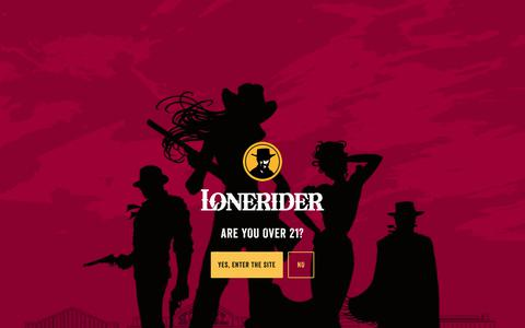 Screenshot of Contact Page loneriderbeer.com - Contact   Lonerider : Ales For Outlaws - captured Nov. 29, 2017