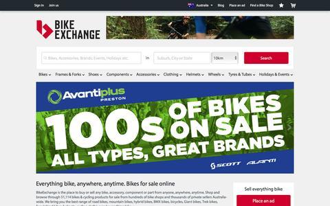Screenshot of Home Page bikeexchange.com.au - Bikes for Sale   Bike and Cycling Shops - BikeExchange.com.au - captured Jan. 3, 2016