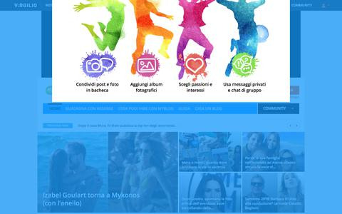 Screenshot of Blog virgilio.it - MyBlog: i migliori blog selezionati per te. Apri il tuo blog - captured July 30, 2018